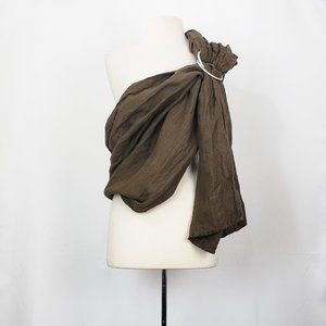 Hip Baby Wrap Brown Linen Ring Sling Carrier